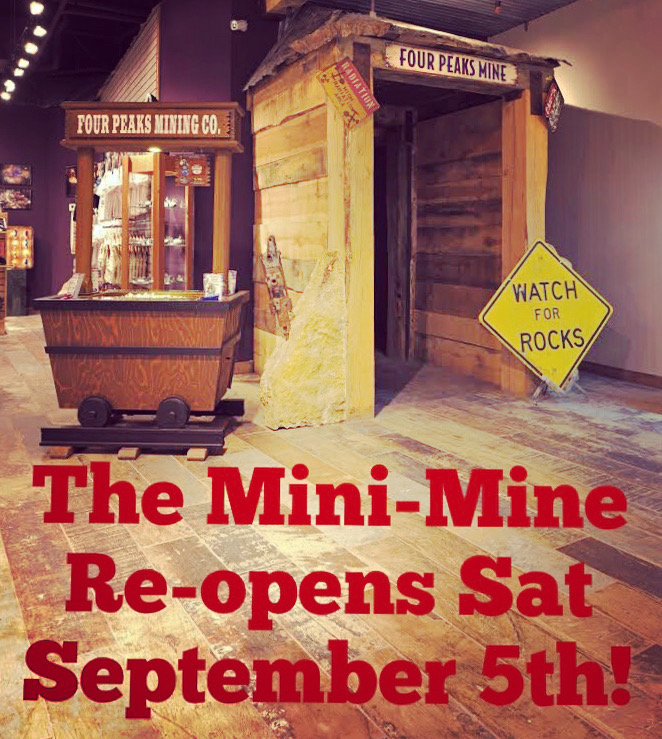 In-store Mini-Mine Reopening – Saturday, September 5th